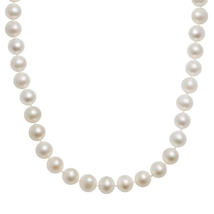 "10k Gold Freshwater Cultured Pearl Necklace - 16'', Women's, Size: 16"", White"