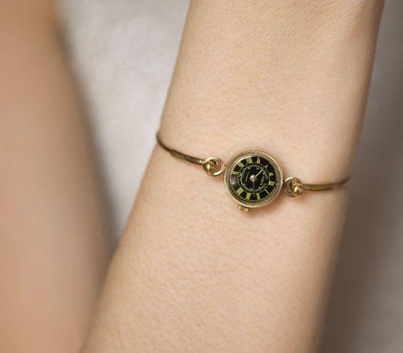 Vintage watch bracelet Seagull gold plated lady watch by SovietEra