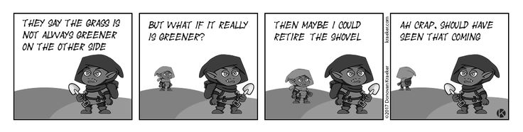 The Grass Is Not Always Greener - LOL Funny Comic made for our board game Kommands. Need to be on the look out for someone coming up and stealing from you! #games #boardgames #boardgamegeeks #gamenight #comic #funny #LOL #joke #Jokes