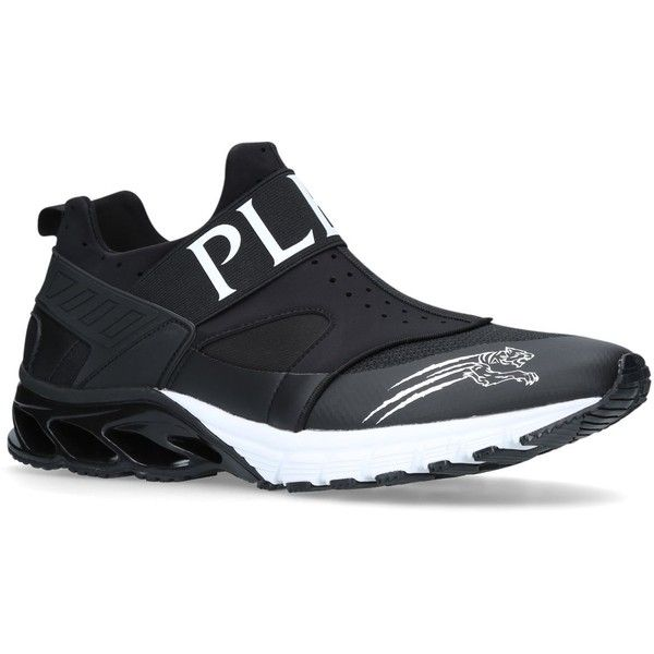 Philipp Plein Rok Slip Runner Sneakers ($350) ❤ liked on Polyvore featuring shoes, sneakers, philipp plein sneakers, ombre sneakers, philipp plein trainers, chunky sneakers and ombre shoes