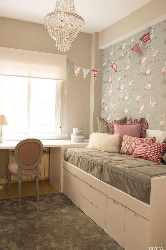 Resultado de imagen de habitaciones juveniles con armario empotrado blanco