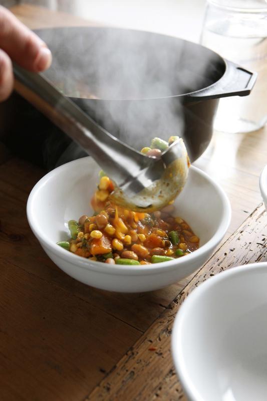 Porotos Granados - Chilean squash and bean stew
