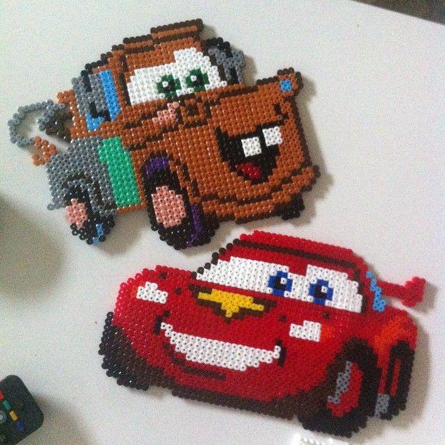 Mater & McQueen - Cars perler beads by oppbruktmelle