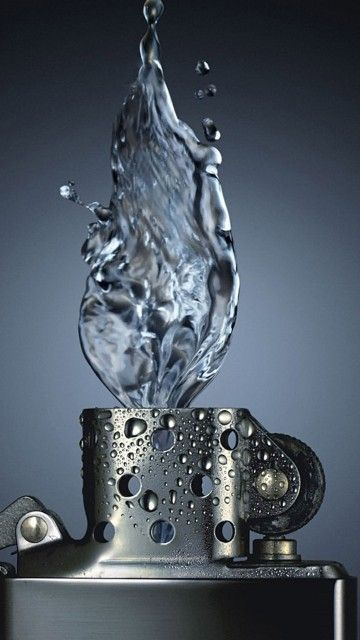 Water Zippo Lighter Abstract Android Wallpaper | Abstract HD Wallpapers 4