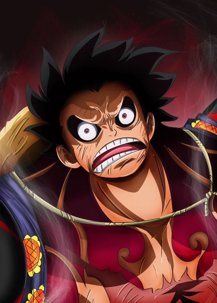 Luffy. Gear Fourth. Anime & Manga Poster Print metal