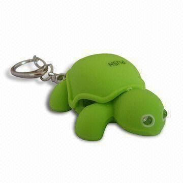 LED Tortoise Keychain with Sound, Available in Printing Logos