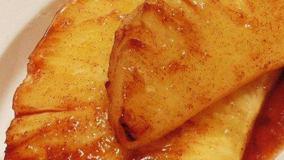 Coat pineapple wedges in a simple mix of brown sugar and cinnamon and grill them to delicious, juicy perfection for this Brazilian steakhouse favorite.