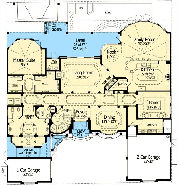 432 best images about floor plans on pinterest house plans luxury house plans and exercise rooms - Luxury Floor Plans