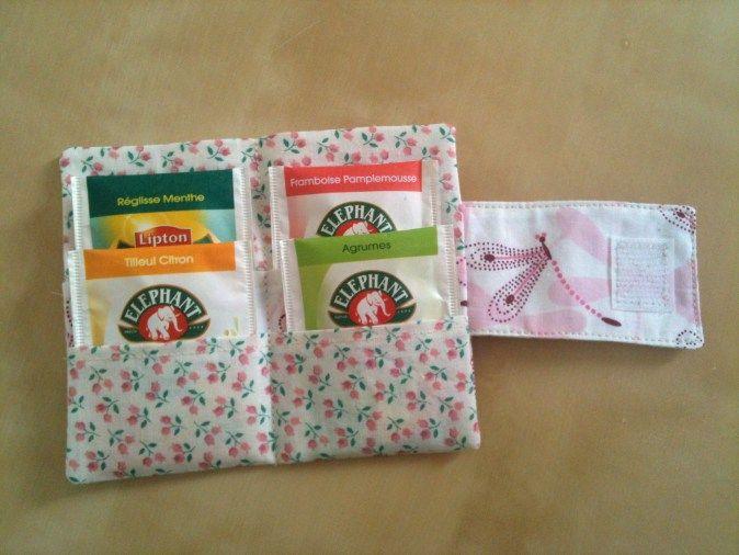 Pochette à thé fleurie liberty | miiflorecouture