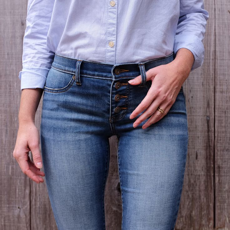 The easiest way to be fly? This! Spice up your wardrobe with a new denim style like button fly ...
