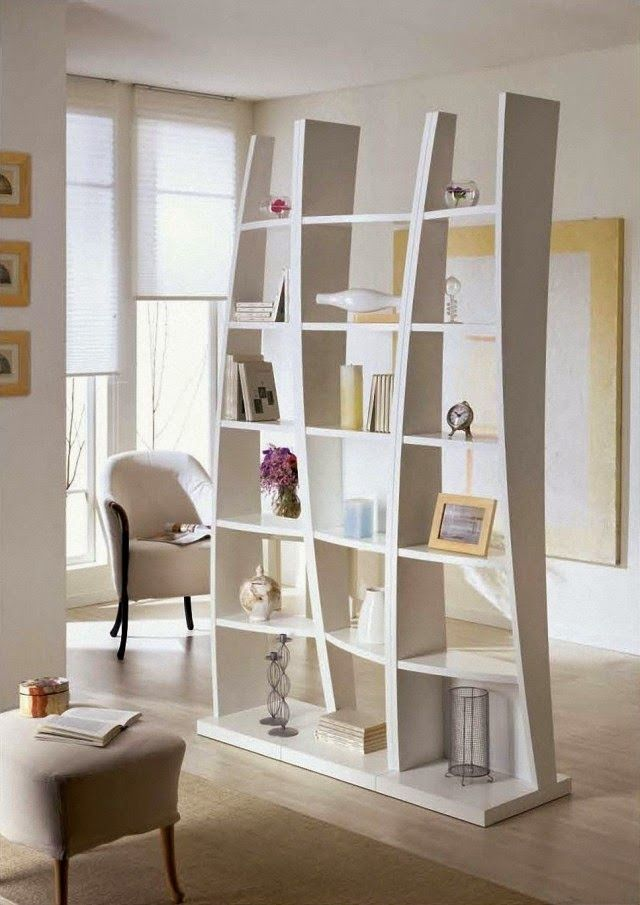 Featured  Awesome Cream Interior Set With Modern White Shelving Room Divider  Set On Laminate Floor For Living Room Decor   Gorgeous Modern Room Dividers   Best 25  Modern room dividers ideas on Pinterest   Office room  . Home Dividers Designs. Home Design Ideas