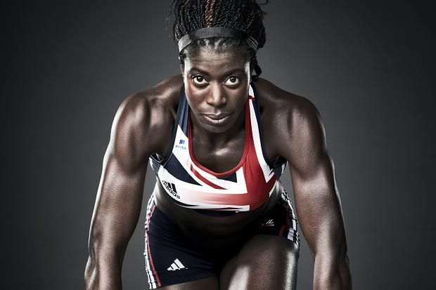 Christine Ohuruogu. Portrait by Robert Wilson