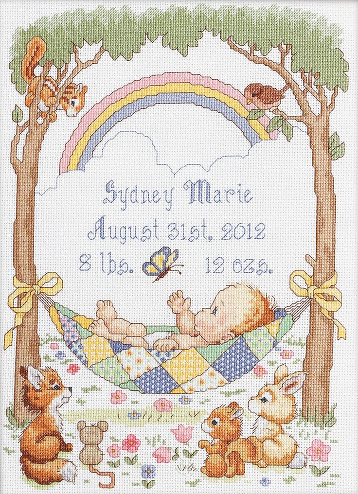 """Our Little Blessing Birth Record Counted Cross Stitch Kit-10""""""""X13.5"""""""" 14 Count"""