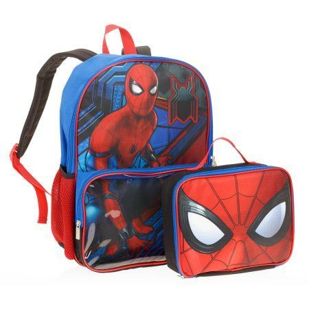 Spiderman Backpack With lunchbox, Blue