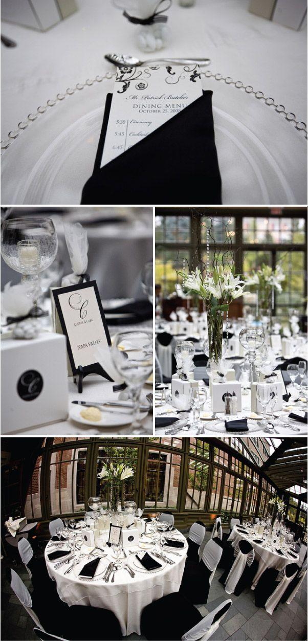 Ideias para decorar um casamento em preto e branco!