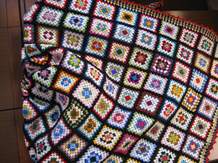 coperta patchwork uncinetto
