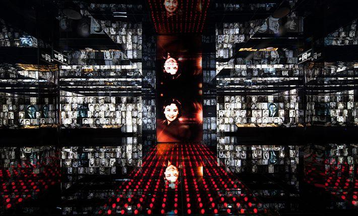 Inszenierung im Raum Shanghai Filmuseum