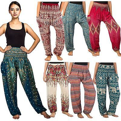 Thai women #harem pants yoga festival baggy hippie boho alibaba #hareem #trousers, View more on the LINK: http://www.zeppy.io/product/gb/2/262523886688/