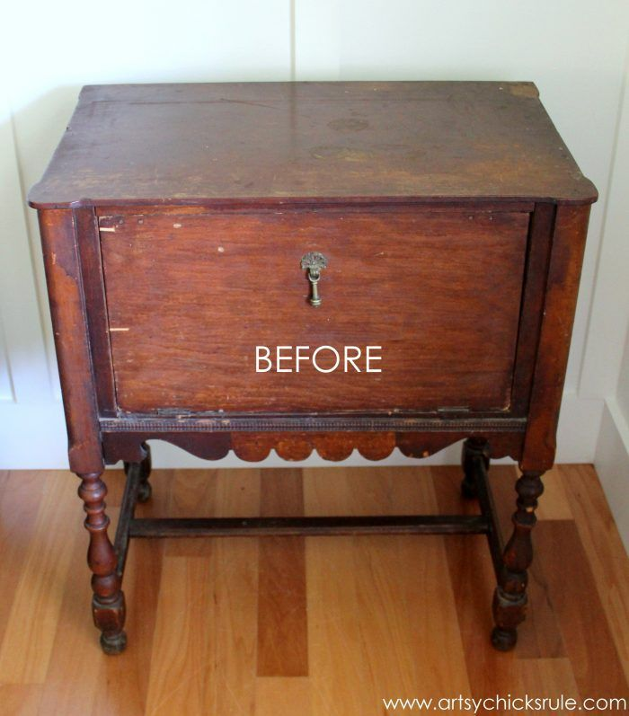 Paint and hand painted French graphics...WOW! What a difference! - BEFORE #chalk...