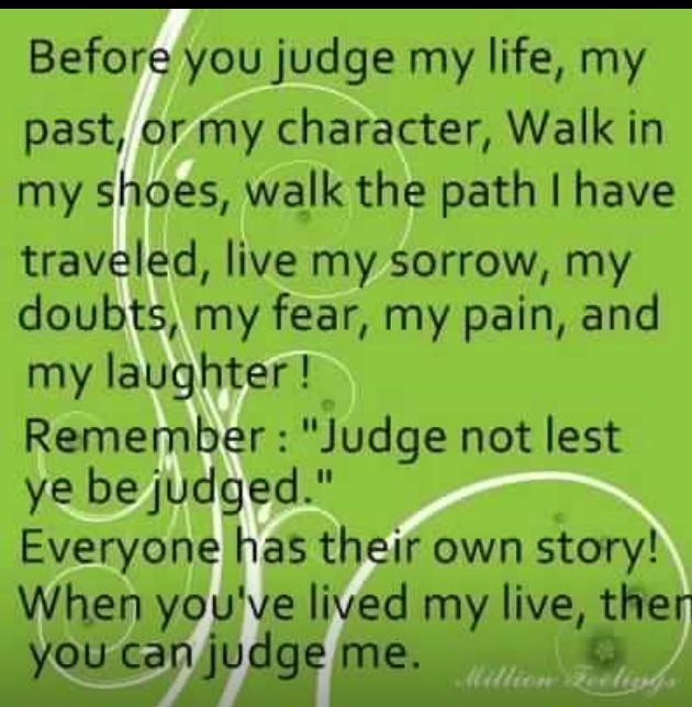 ...ahhh, judge away, what do I care? Lol!!!...
