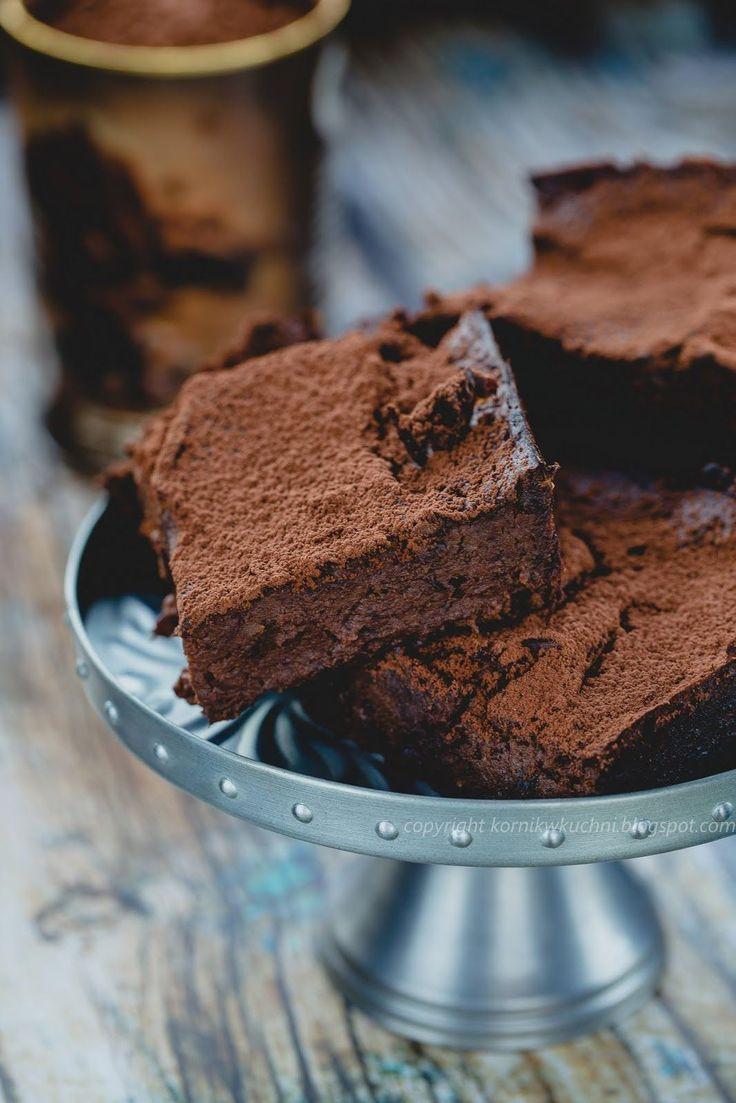 Ciasto bez cukru i mąki jak brownie (z batata)