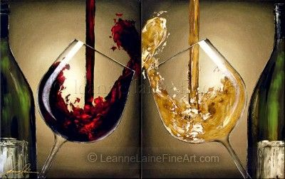For the Love of Burgundy, Red and Purple Wine Art