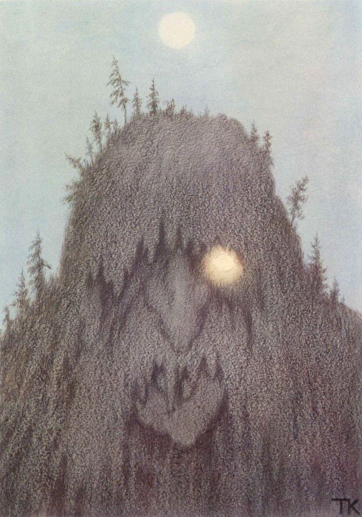"ckck: ""Skogtroll (Forest Troll) by Theodor Kittelsen, 1906. """