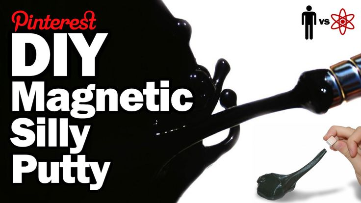 DIY Magnetic Silly Putty - Man Vs Science #4