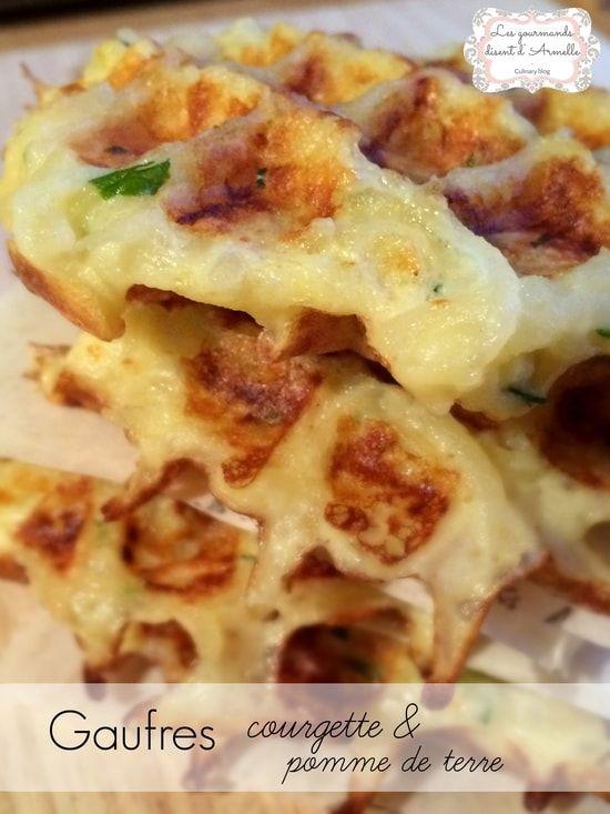 Recette de Gaufres salées courgette et pomme de terre : la recette facile
