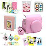 7 in 1 instax Mini 8 Instant Film Camera Accessories Bundles ( Pink Instax Mini 8 Case/ Mini Album/ Close-Up Selfie Lens/ 4 colors Close-Up Lens/ Wall Hang Frames/3 inch Film Frame/ Film Stickers) - http://shopattonys.com/7-in-1-instax-mini-8-instant-film-camera-accessories-bundles-pink-instax-mini-8-case-mini-album-close-up-selfie-lens-4-colors-close-up-lens-wall-hang-frames3-inch-film-frame-film-stickers/