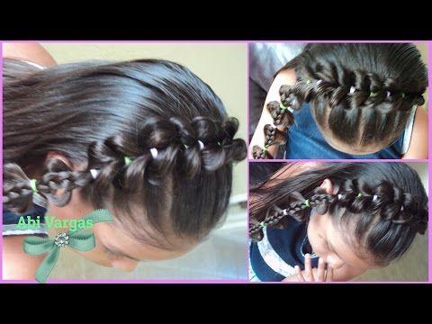 Peinados para Niñas/Diadema con liguitas/Abi Vargas - YouTube
