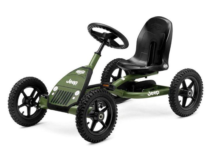 Berg Jeep Junior Pedal Go Kart 24-21-34  Price: $359.00  Retail Price: 369.00    Jeep Junior Pedal Go-kart Jeep Junior Pedal Go-kart is a unique and newly-designed pedal go-kart in original Jeep design. Children already from the age of 3 years can now experience the feeling of real off-road driving!...Read More
