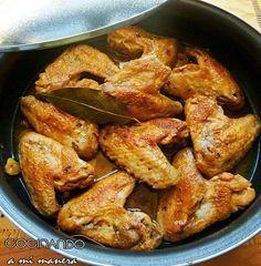 Receta paso a paso de alitas de pollo al ajillo, una de las formas más ricas de prepararlas. Una receta muy sencilla con un resultado espectacular!