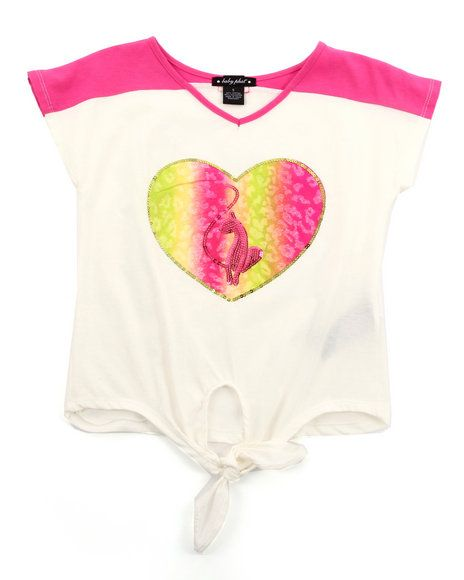 20.00 The Colorblock Tie Front Top by Baby Phat