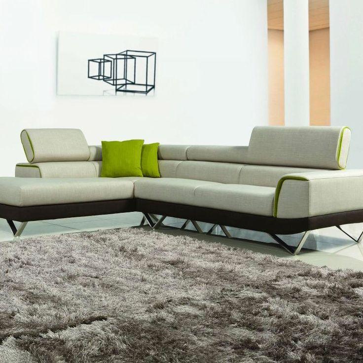 Newton Contemporary Sectional Sofa   dotandbo.com