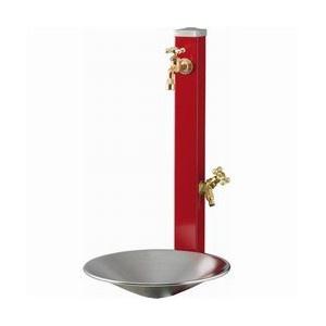 スプレ立水栓ポール&蛇口セット補助蛇口:シャインポット付き