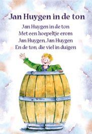 Jan Huygen in de ton - ansichtkaart