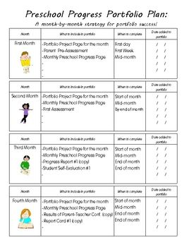 Preschool Portfolios Pack: A Year-Long Plan for Creating E