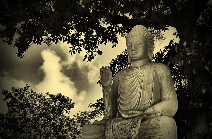"""...is no need for temples,no need for complicated philosophy. Our own brain,our own heart is our temple ; the philosophy is kindness ."""" Dalai Lama 14 th  Buddha statue in countryside of Da nang . Vietnam trip ,2013"""