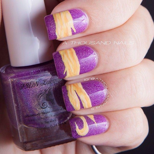 Rapunzel Nails: 80 Best Images About Disney Nails On Pinterest