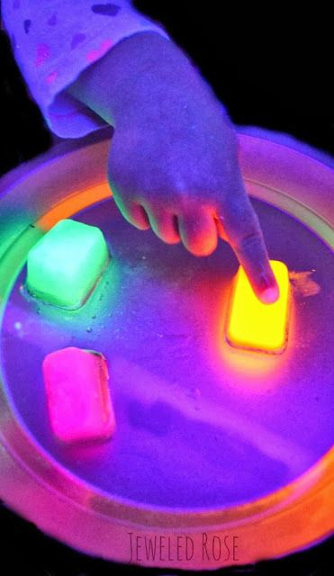 Glowing Ice Kids Science Experiment