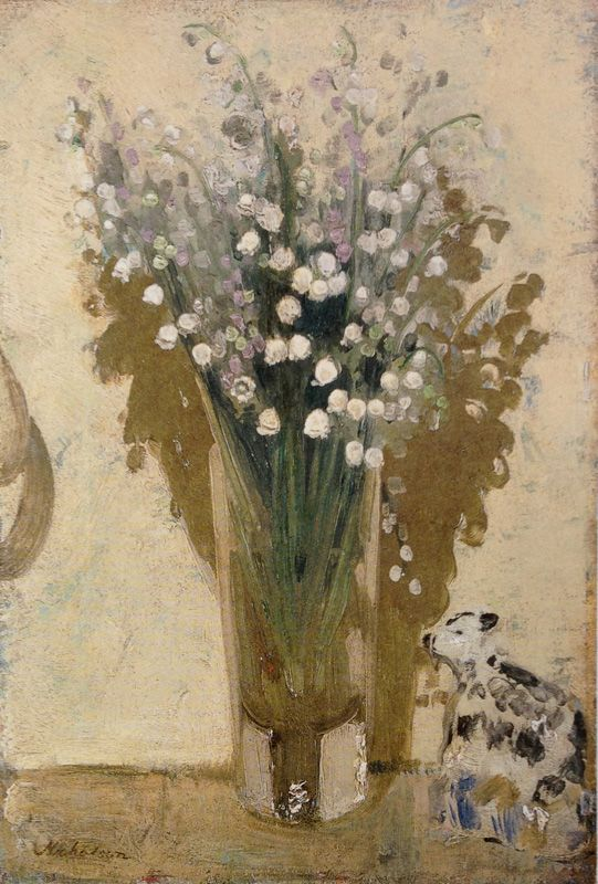 ❀ Blooming Brushwork ❀ - garden and still life flower paintings - William Nicholson | Lillies of the Valley, 1925
