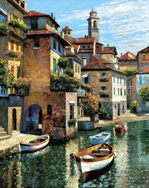 Italian Painted Oil Paintings.
