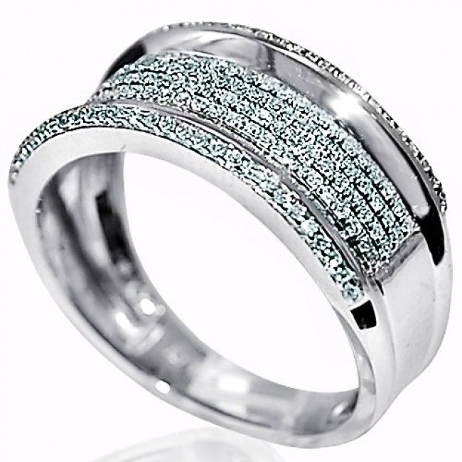 Mens Diamond Wedding Band Ring 10k White Gold 45ct 10mm Wide Pave Set