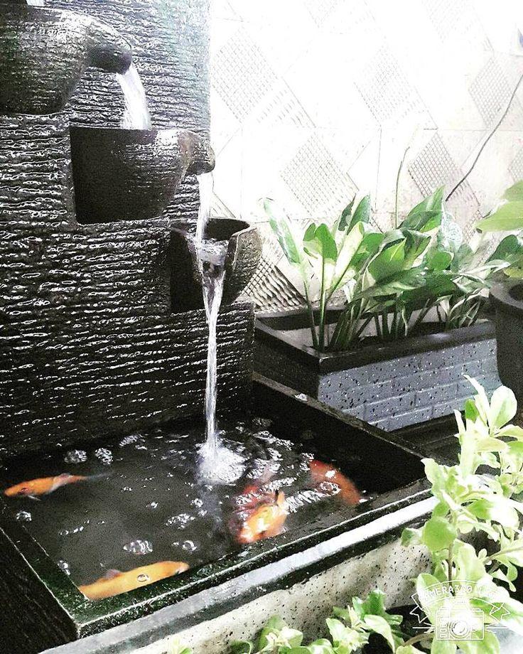 Model Kolam Ikan Dengan Air Mancur Unik
