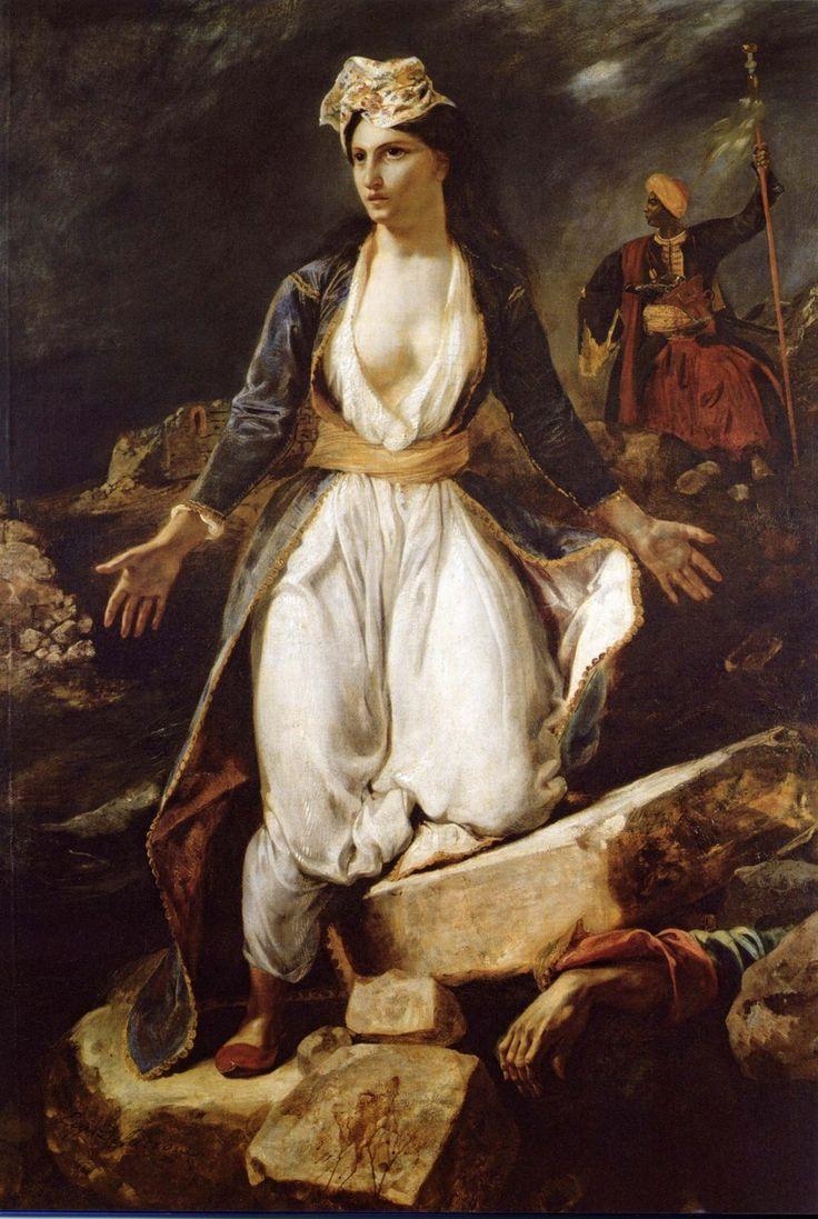 Victoire de Samothrace: Greece on the Ruins of Missolonghi - Eugène Delacroix, 1826