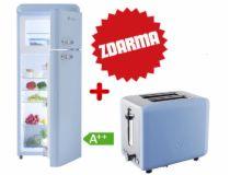 Chladnička Schaub Lorenz SL 210 LB lesklá světle modrá + TOPINKOVAČ