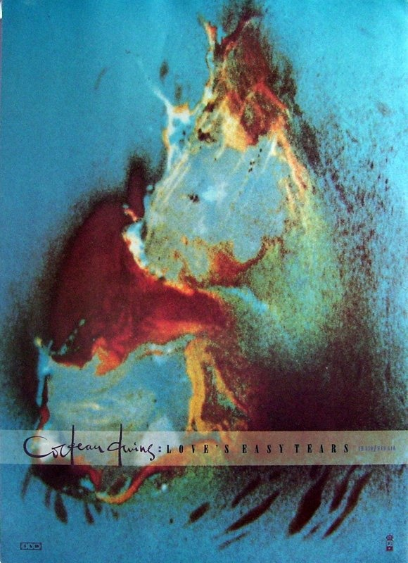 "PG065 ""Love easy Tears / Cocteau Twins"" poster by Vaughan Oliver (1986)"