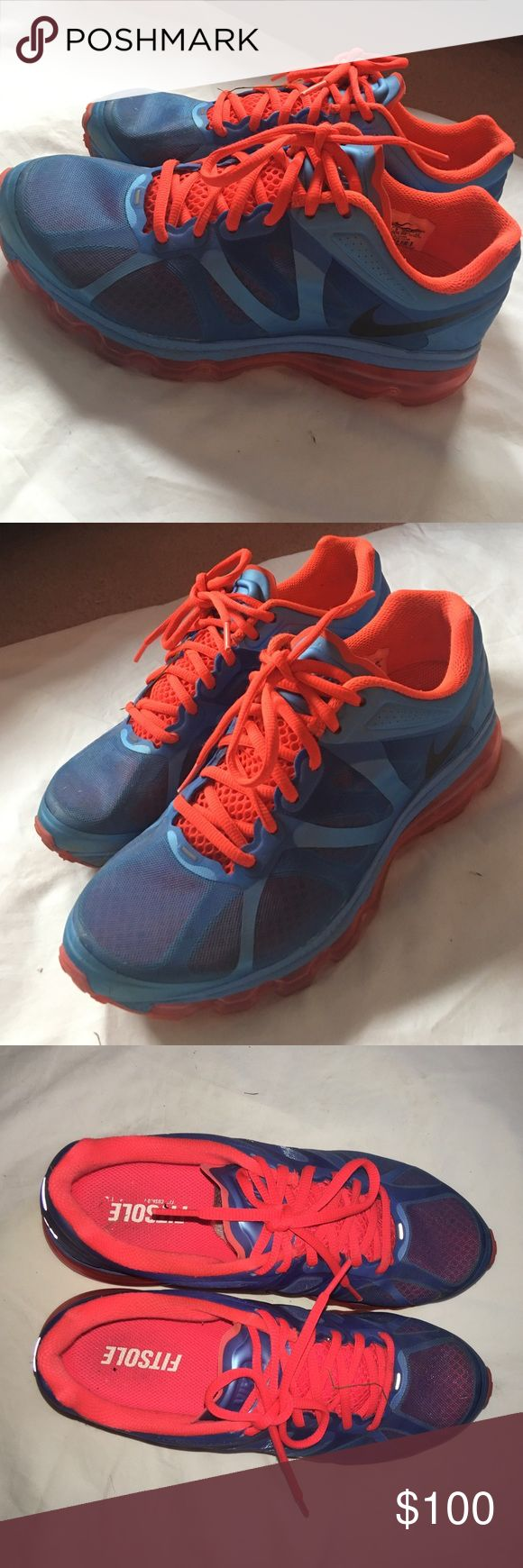 Nike air max sneakers LIKE NEW Nike air max sneakers size 8. Extremely comfy. Worn only a couple times. Normally $178 Nike Shoes Sneakers