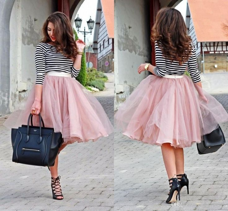 Online Cheap Dusty Pink Chiffon&Tulle Piping Skirts Cheap Custom Made Short Street Fashion Ruched Spring Skirt For Women Tutu Skirt Party Ball Gown By Xzy1984316 | Dhgate.Com